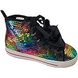 Girls High Top JoJo Reversible Sequin Glitter Shoes Sneaker Black 13
