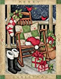 LANG - ''Santa's Rocker'', Boxed Christmas Cards, Artwork by Susan Winget'' - 18 Cards, 19 envelopes - 5.375'' x 6.875''