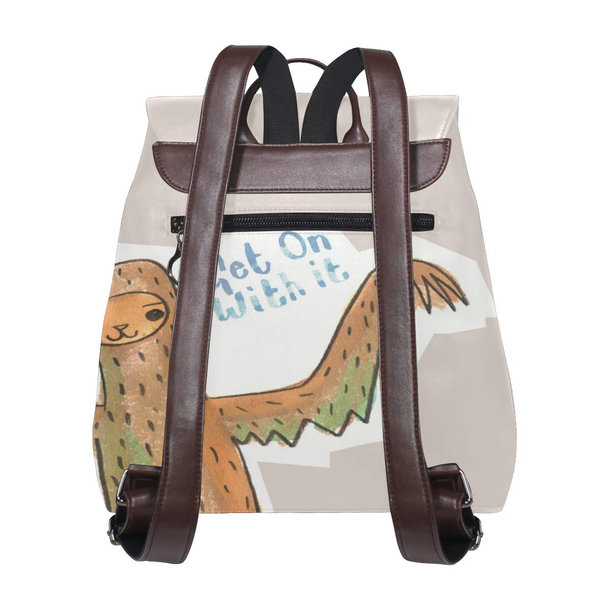Sloth Cute Women Specially High Density Shoulder Bags Thick Backpack Travel School Wallet