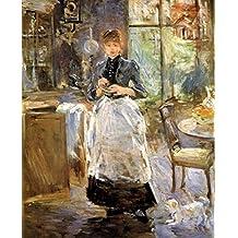 The Museum Outlet - 1884 Berthe Morisot Dans la Salle a manger PEINTURE HUILE SUR TOILE - Poster Print Online Buy (40 X 50 Inch)
