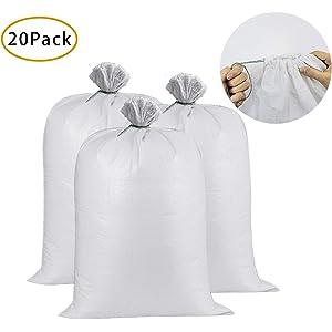 b596033e28a UpNorth Sand Bags - Empty White Woven Polypropylene Sandbags w Ties ...