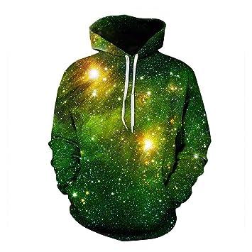 Sudaderas con capucha para hombres, Mujeres estrelladas verdes Sudaderas con capucha para hombre Sudaderas con