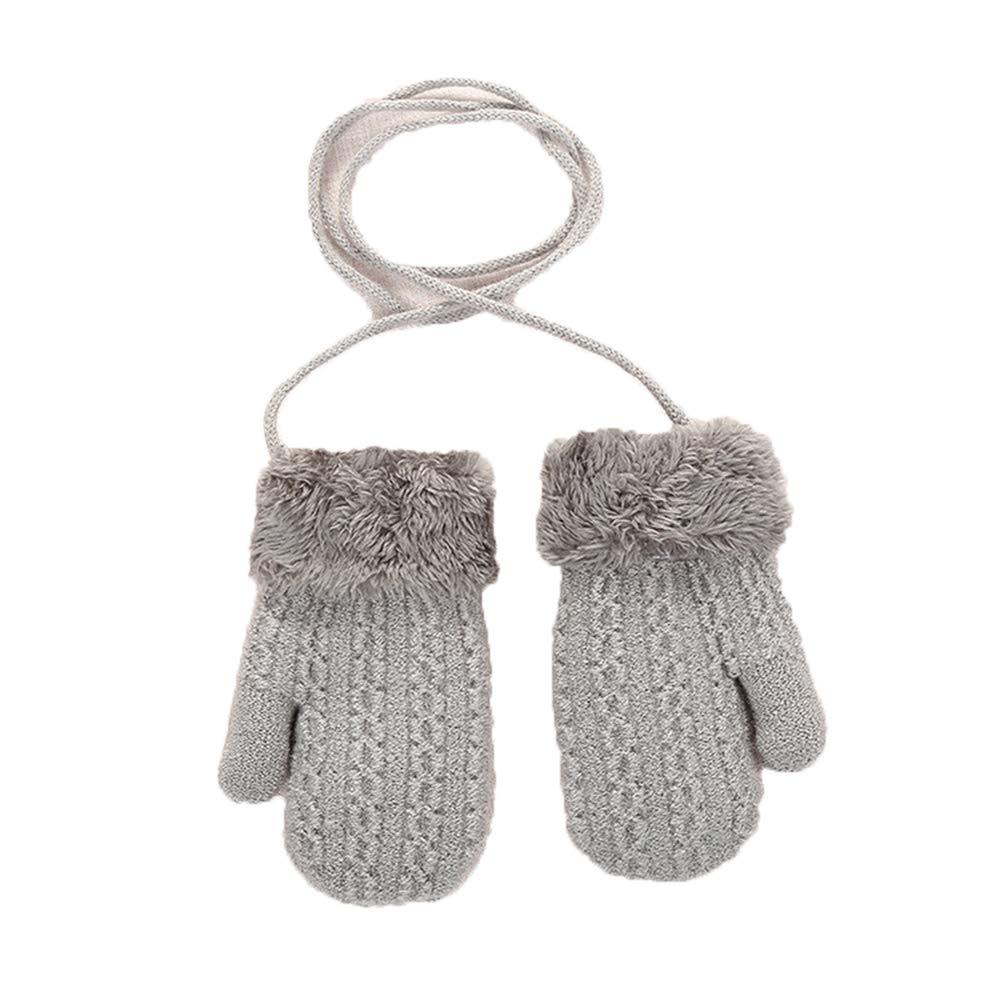con cuerda c/álida YICANG Guantes de punto beb/é ni/ños para invierno guantes de dedo completo para ni/ños peque/ños ni/ñas
