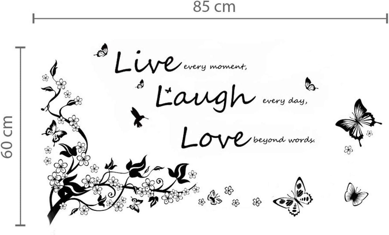Combo Live Laugh Love Color negro Walplus Producto de decoraci/ón infantil de pared
