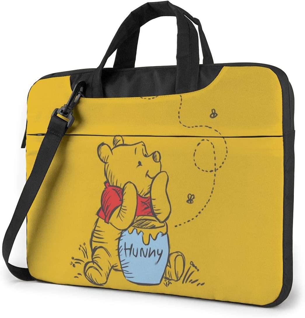 15.6 Inch Laptop Bag Winnie The Pooh Laptop Briefcase Shoulder Messenger Bag Case Sleeve
