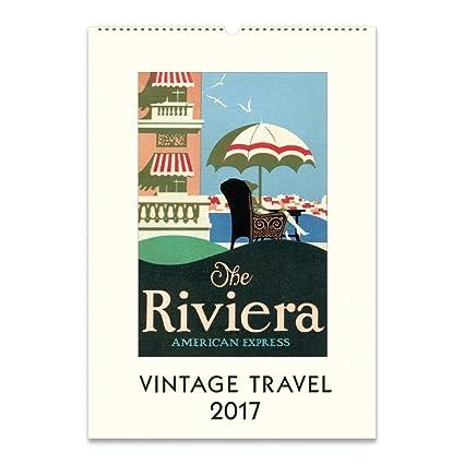 Amazon com: 2017 Vintage Travel Posters Wall Calendar
