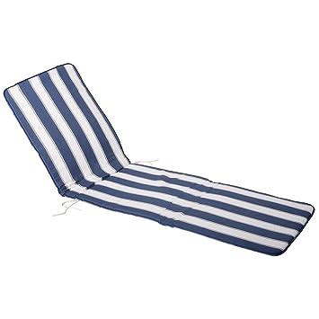 Saturnia 8097515 Coussin Pour Chaise Longue Bleu Blanc 189 X 585 2