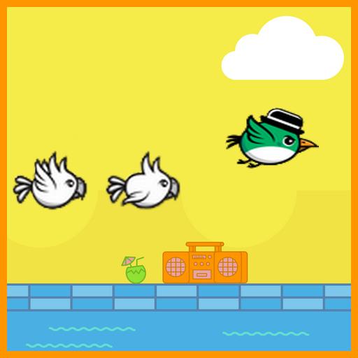 Flying Green Bird Adventure -