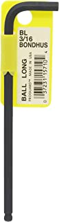 """product image for Bondhus 15710 3/16"""" Ball End Tip Hex Key L-Wrench with ProGuard Finish, Tagged and Barcoded, Long Arm, Multi, One Size"""