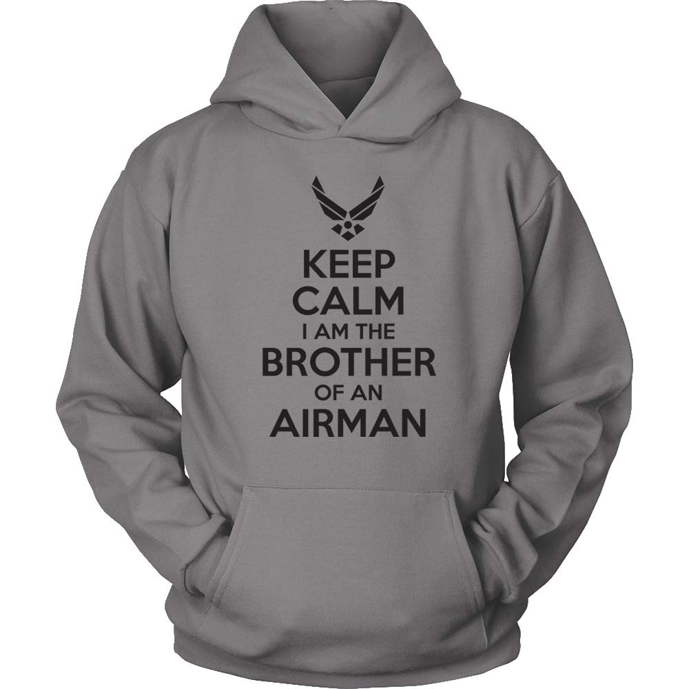 USAF Bro Sweatshirt Grey Air Force Brother Shirt USAF Brother Hoodie Keep Calm I am The Brother of an Airman