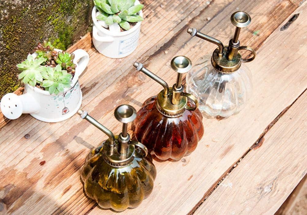 Aikesi Flacon Pulv/érisateur deau Flower Arrosoir Bouteille en Verre Bouteille en Verre Color/é Style Vintage Style Citrouille Bouteille Jardinage du Verre