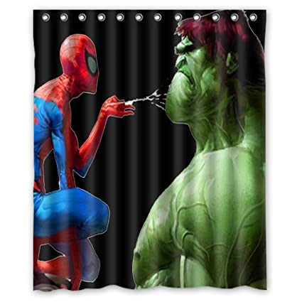 Aloundi Custom Hulk Waterproof Durable Shower Curtain Fabric