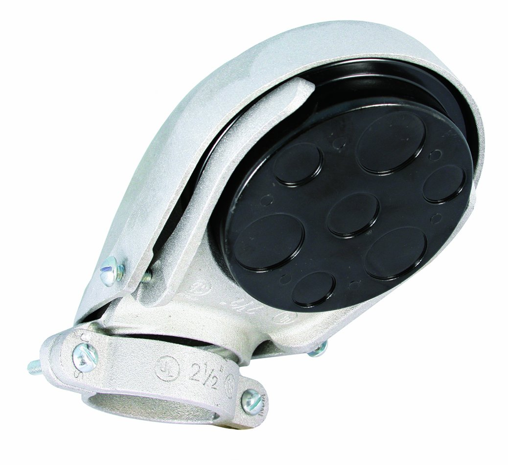Hubbell-Raco 2416 4-Inch Rigid/Imc or Emt Clamp Type Service Entrance Head Aluminum