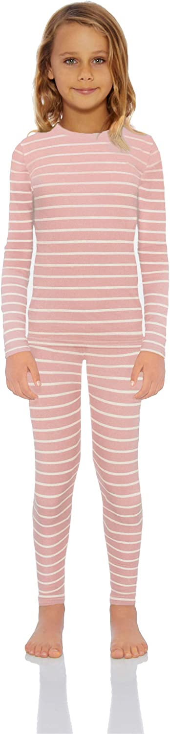 Rocky Thermal Underwear for Girls Fleece Lined Thermals Kids Base Layer Long John Set