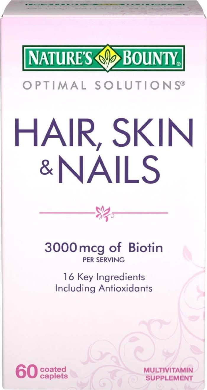 Nature's Bounty Hair, Skin and Nails Formula, 180 Coated Caplets (3 X 60 Count Packages)