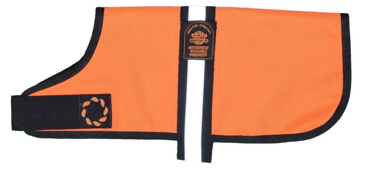 The Animate Company Outhwaites Waterproof Padded Hi-Vis Coat (9.8in) (orange)