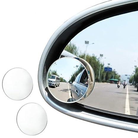 "JTDEAL Blind Spot espejo (2pcs, 2 ""), Rimless HD cristal gran"
