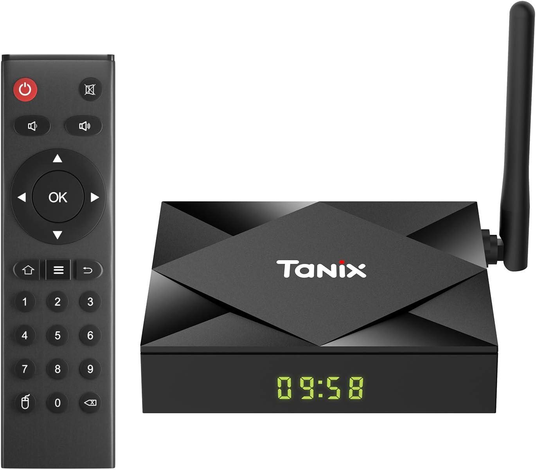 TV Box Android 10.0, Sidiwen TX6S Smart TV Box 4GB RAM 32GB ROM, Allwinner H616 Quad-Core Mali-G31 MP2 GPU, 2.4G / 5G Dual WiFi Bluetooth Ethernet USB ...