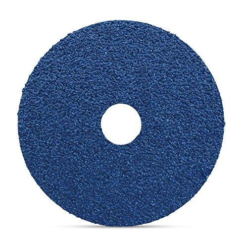 Black Hawk Zirconia Resin Fiber Grinding & Sanding Discs, 36 Grit, 5-Inch x 7/8-Inch Arbor, Pack of 25