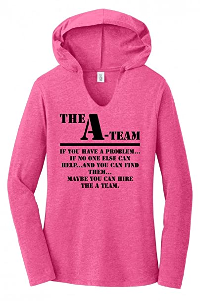 35735cfa944 Amazon.com  Comical Shirt Ladies The A Team 80 s TV Show Shirt Hoodie Shirt   Clothing