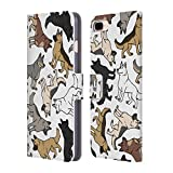Head Case Designs German Shepherd Dog Breed Patterns Leather Book Wallet Case Cover for Apple iPhone 7 Plus / 8 Plus