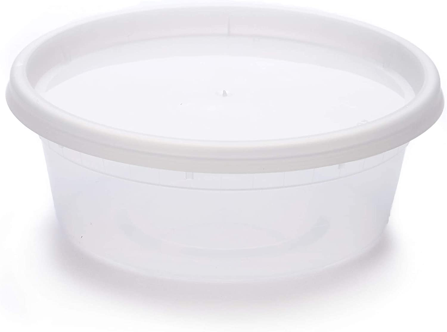 Scotty's 48 Pack of 8 oz Deli Plastic Food Storage Containers with Lids - 48 containers and 48 lids - Microwaveable - Restaurant Quality