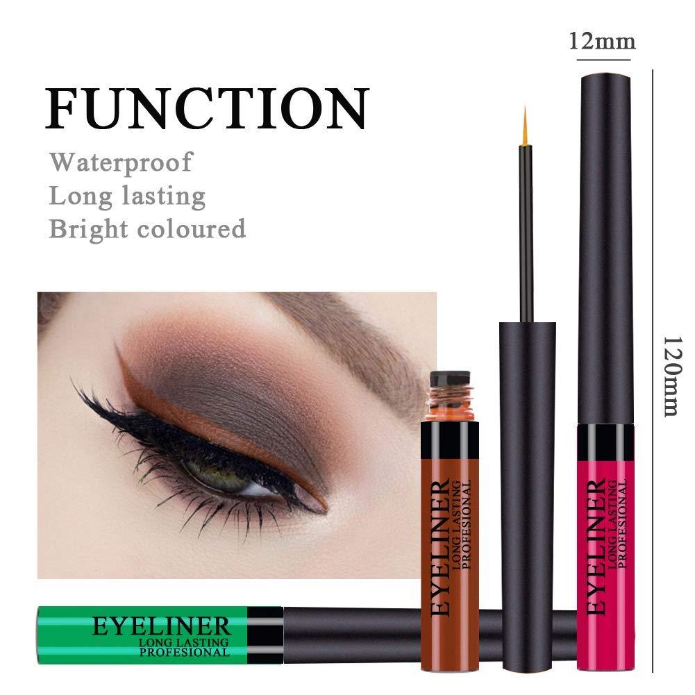 Liquid Metallic Eyeliner Glitter Eyeshadow 12 Color Metallic Glitter Sparkling Eyeliner Face Eye Cosmetic Glow Shimmer Makeup Glitter Eye Shadow Long Lasting Pigments Smudgeproof for Women Girl by Semilyn (Image #5)