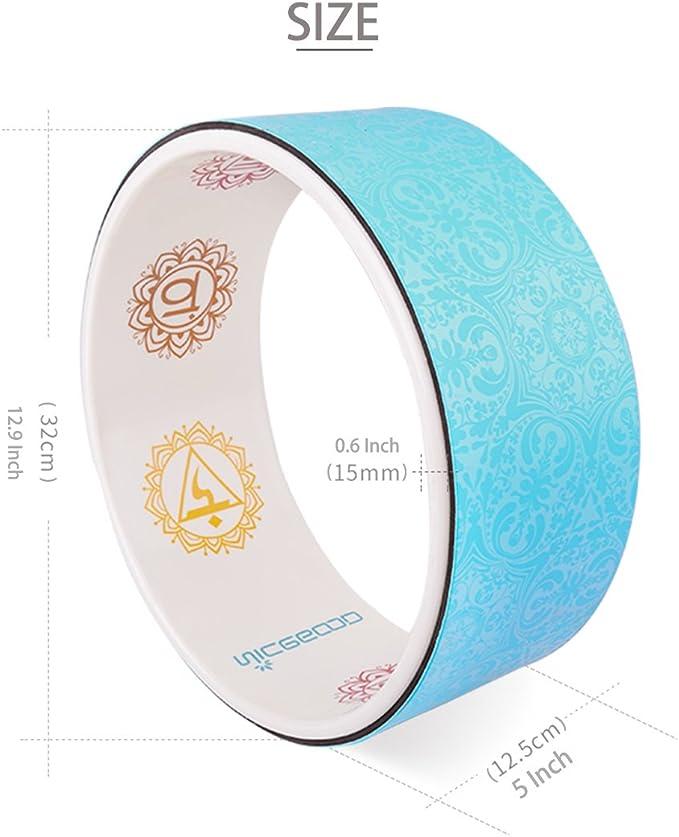 Azul A-Flower Rueda de Yoga Rueda de Ejercicio Dharma 32 x 12,5 cm para Estirar m/ás Profundo con Correa y gu/ía de Instrucciones
