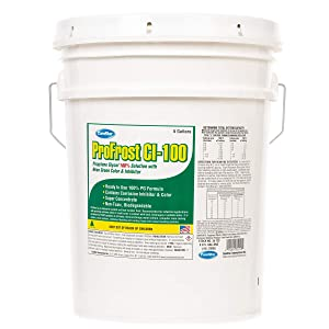 ComStar 35-723 ProFrost Chiller/Anti Freeze/Heat Transfer Fluid with Corrosion Inhibitor and Color, 100% Solution Ratio, 5 gal Pail, Fluorescent Green