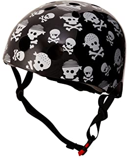 KIDDIMOTO Skullz S Piccolo Casco para niños, Color Negro, S (48-53