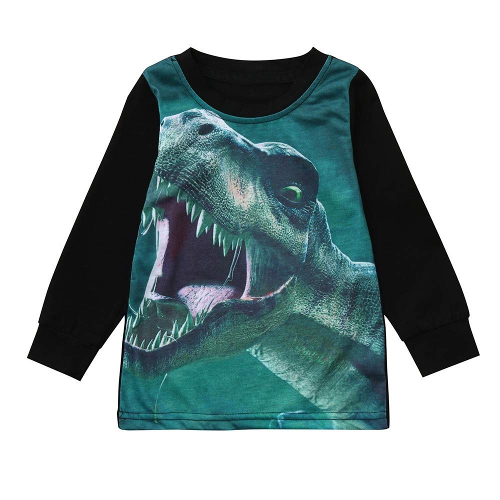 KONFA Teen Toddler Baby Boys Girls Fall Winter Pullover Clothes,The Rexes Print T-Shirt Blouse Tops,for 1-5 Years Kids