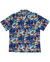 RJC Men's Santa's Aloha Holiday Hawaiian Shirt