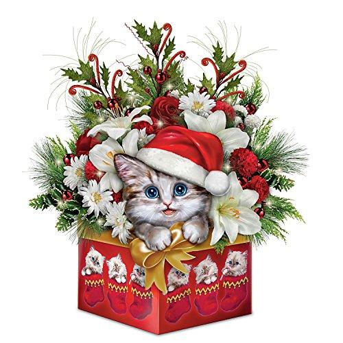 Kayomi Harai Cat Art Christmas Floral Centerpiece Decoration: Bradford Exchange by The Bradford Exchange (Centerpieces Holiday Floral)