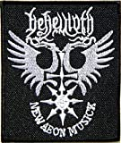 BEHEMOTH NEW AEON K Logo Punk Rock Heavy Metal Music Band Jacket shirt hat blanket backpack T shirt Patch Embroidered Appliques Symbol Badge Cloth Sign Costume Gift
