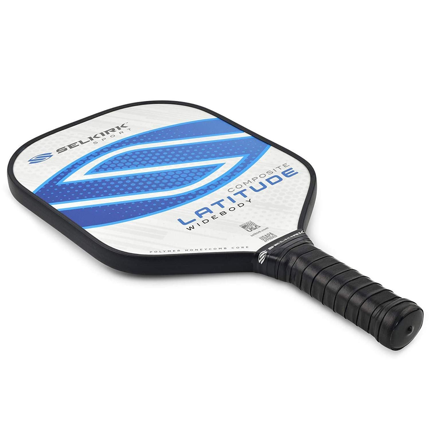 Selkirk Latitude Widebody Composite Pickleball Paddle - USAPA Approved - PowerCore Polymer Core - PolyFlex Composite Surface - EdgeSentry Protection - ...