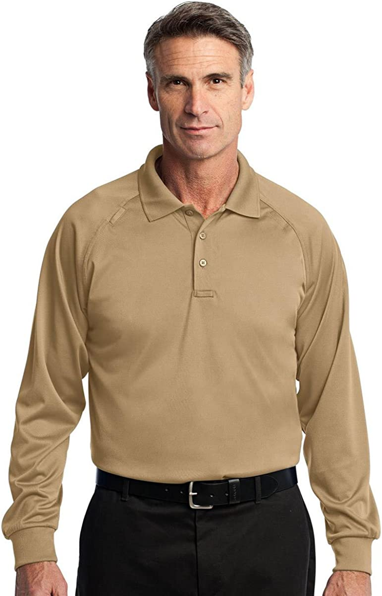 Cornerstone Mens Snag-Proof Long Sleeve Tactical Polo Shirt/_Tan/_XX-Large