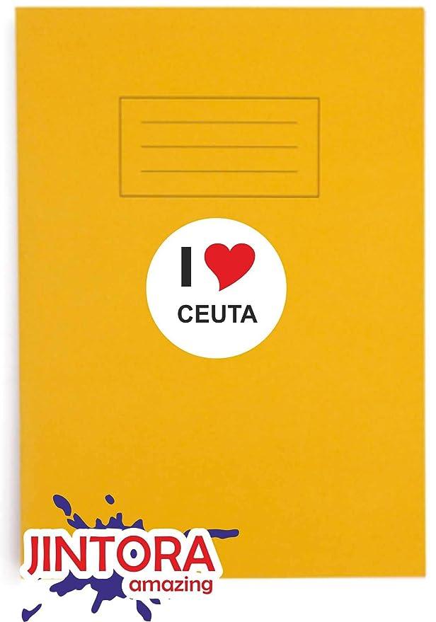 I Love Ceuta portatile Lunotto posteriore Auto Adesivo//adesivo Auto I Love Heart JINTORA misura: 80mm esterno Rotondo JDM//Die Cut//OEM