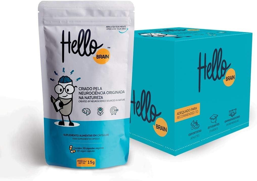 HelloBrain Unid 15g – Suplemento Inovador de Saúde Cerebral, Hello Nutrition por Hello Nutrition