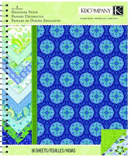 (K&Company Paper Pad, Lily Ashbury Indigo Garden, 8.5 by 11-Inch )