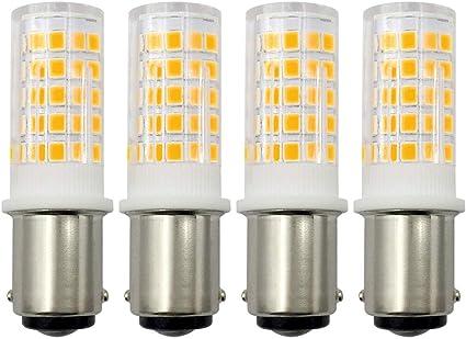 Bombilla B15D LED blanca cálida 3000 K 220 V 4 W doble contacto ...