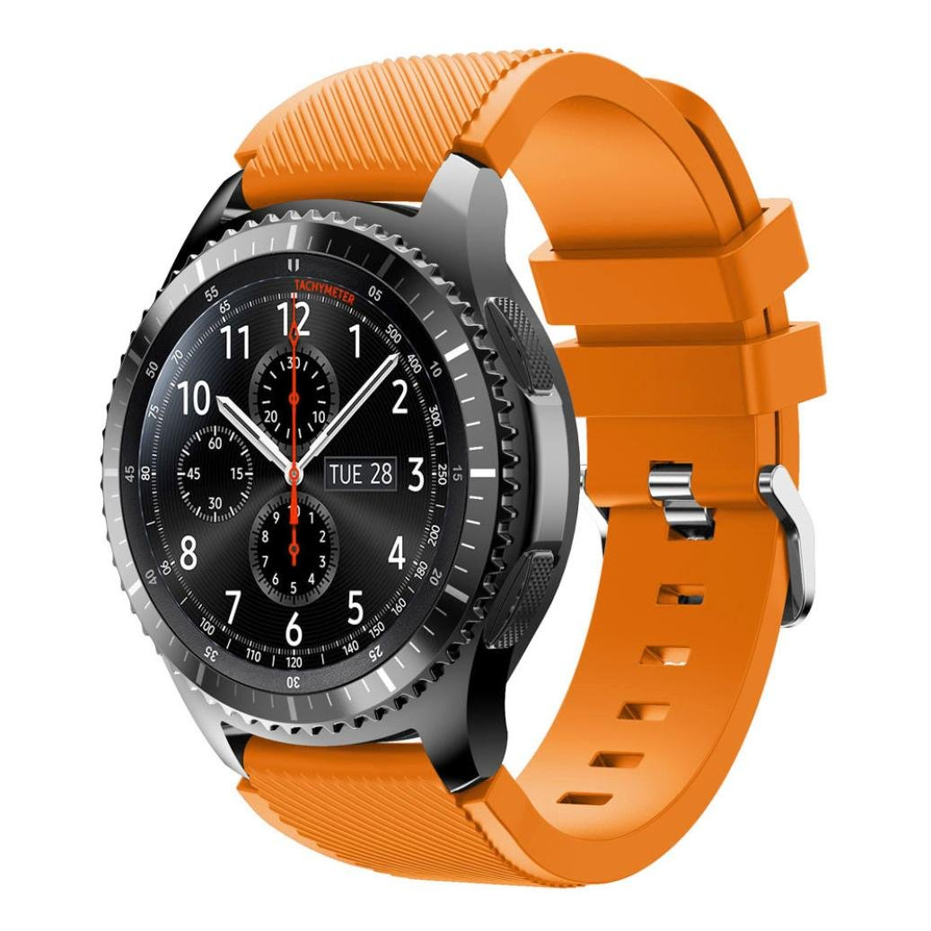 Amazon.com: Ninasill Unisex Fashion Sports Silicone Bracelet Strap, Exclusive Band For Samsung Gear S3 Frontier Watch Strap (Orange): Home & Kitchen