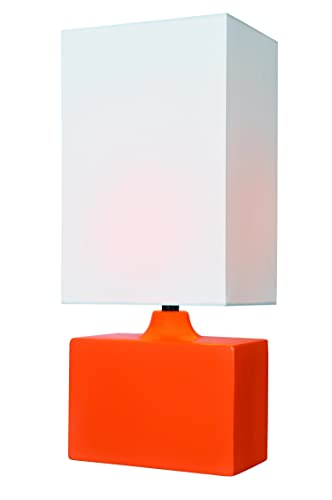 Lite Source LS-22378ORN Kara Ceramic Table Lamp, Orange