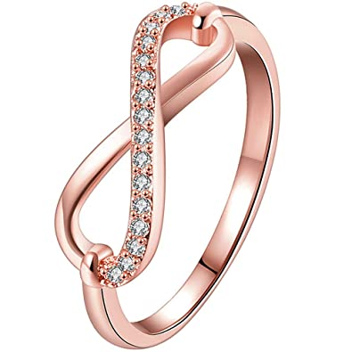 Amazon Aonew Womens 18k Rose Gold Plated Cubic Zirconia Cz