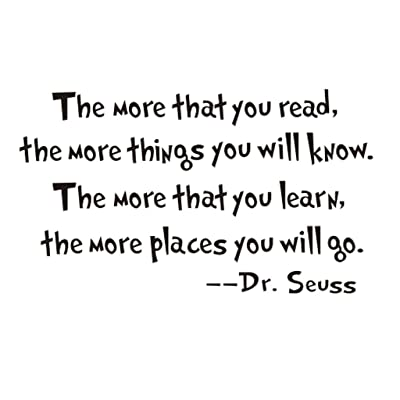 """""""The More That You Read"""" Bedroom Quote Decors Wall Saying Decals Quote for Home Wall Stickers Nursery Room Decor(2)"""