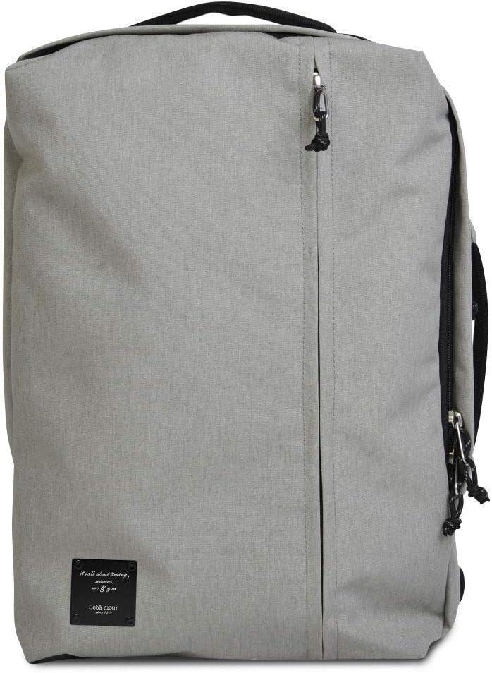 Bebamour School Backpack, College Laptop Backpacks Durable Bag for Women, Men, Boys and Girls, Business Travel Bookbag with USB Charging Port Back To School,Grey