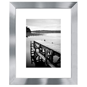 Amazoncom Americanflat 8x10 Silver Picture Frame Display
