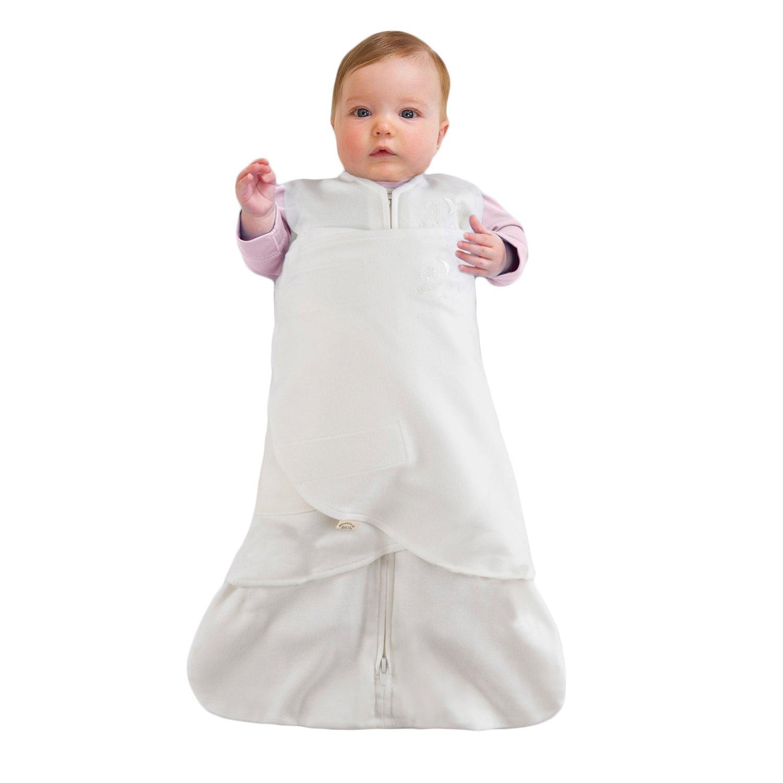 blanco Saco de dormir para bebe org/ánico de 0 a 3 meses Halo