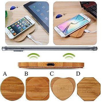 Dream-cool Bamboo Cargadores inalámbricos para teléfonos ...