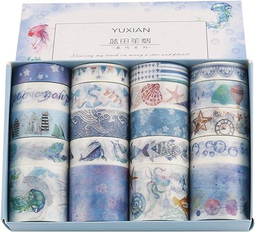 scrapbook Revistas Green tarjetas planificadores Lychii cinta adhesiva decorativa colecci/ón Malet/ín de maquillaje Bullet para DIY manualidades