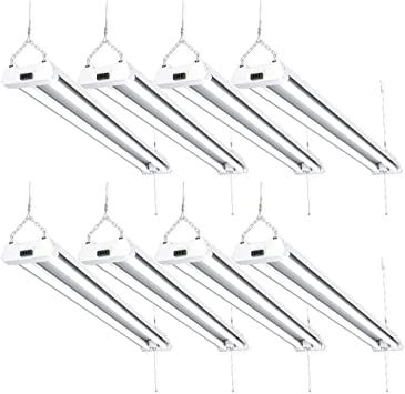 SUNCO 14 PACK 4ft 40W LED Industrial Utility Frosted Shop Light 4000K Cool White